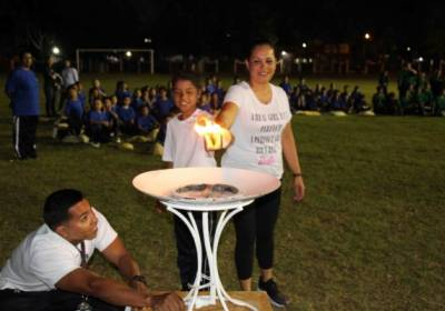 Inauguran Olimpiada Deportiva Infantil de Escuela Gabino Barreda