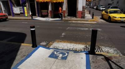 Listas nuevas rampas para personas discapacitadas en Centro Histórico de Zamora
