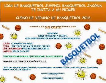 Invitan a Curso de Verano de Basquetbol en Jacona