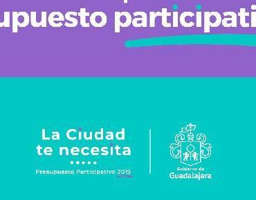 Invitan a unirse al Presupuesto Participativo 2019 en Guadalajara