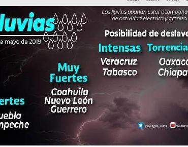 Este jueves inicia temporada de lluvias en varios estados de México