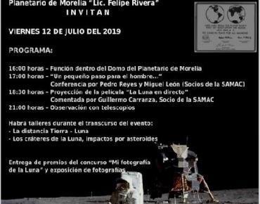 Celebrará Planetario de Morelia 50 Aniversario de llegada del hombre a la luna