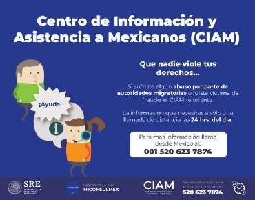 Llaman a zamoranos a conocer servicios que ofrece el Centro de Información y Asistencia a Mexicanos (CIAM)