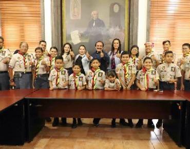 Apoya ayuntamiento de Zamora a grupo de scouts con más de 60 niños