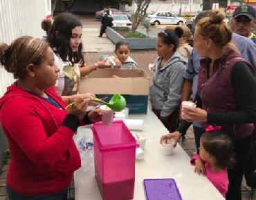 Vecinos de Ario se solidarizan con familiares de personas internadas en el Hospital Regional