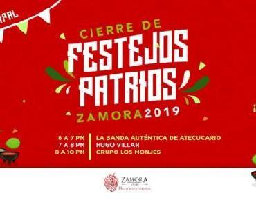 Banda Auténtica de Atecucario, Hugo Villar y Grupo Los Monjes, cerrarán Festejos patrios en Zamora