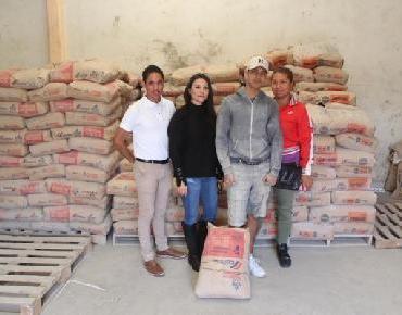 40 Familias jaconenses beneficiadas con entrega de cemento