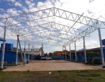 """Avanza construcción de techumbre para kínder """"Nezahualcóyotl"""" en Zamora"""