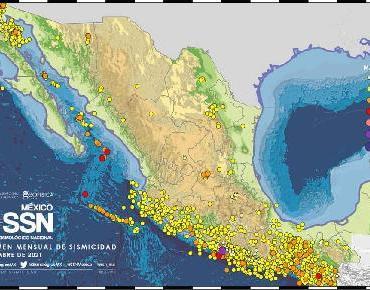 Casi 3 mil sismos en septiembre