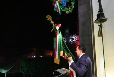 Presidente Carlos Soto, encabezó Ceremonia del Grito de Independencia