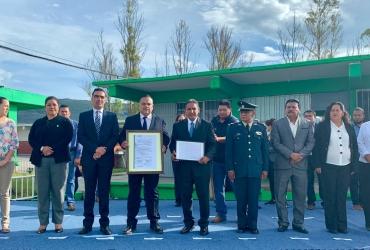 Rinden homenaje José Antonio Gómez Rodríguez, forjador del escudo nacional