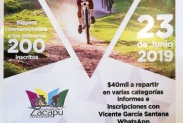 Zacapu listo para 5º Serial Estatal de Ciclismo de Montaña