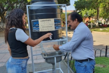 Dispensadores de agua clorada y jabón serán colocados en Zamora