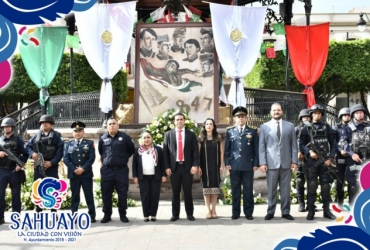 Conmemoran 172 Aniversario de los Niños Héroes Sahuayo