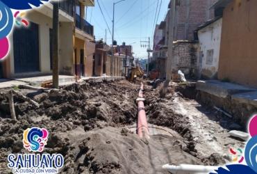 En Sahuayo inician trabajos de pavimentación en calle zaragoza
